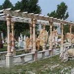石雕长廊花架\石雕石材|石雕栏杆