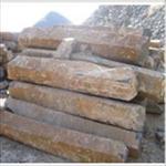 玄武岩六方石石柱