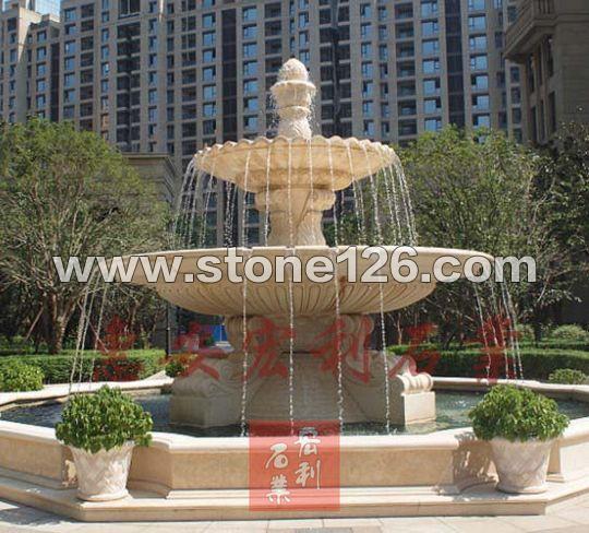 供应大型石雕喷水池 -石材供应