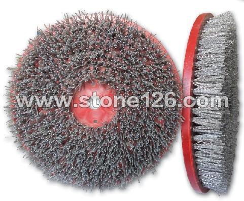 Ф350mm圆型石板钢丝尼龙混合刷