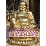 弥勒佛雕塑,铜雕塑,庙宇雕塑