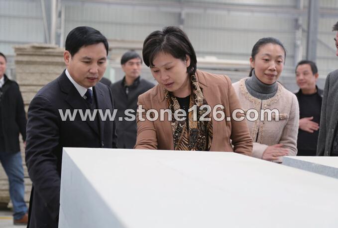 县政府领导莅临连旺企业车间视察指导工作