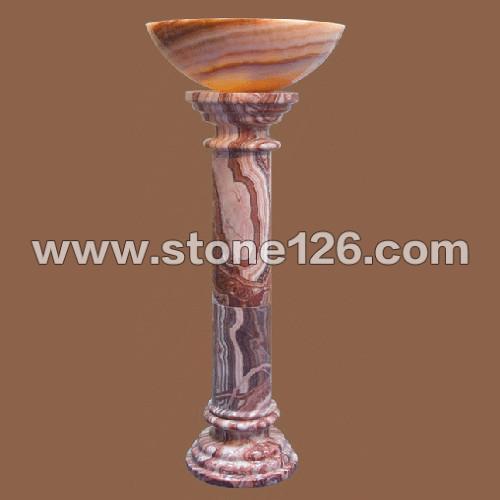 水晶圆柱雕刻图