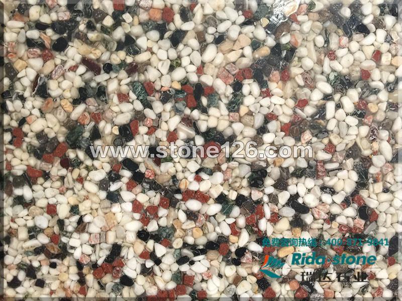【供应】武汉石材厂家供应奢华石材五彩卵石
