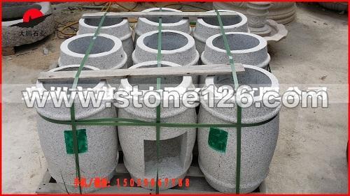 石雕厂家专业生产 石雕垃圾桶 园林广场景观雕塑