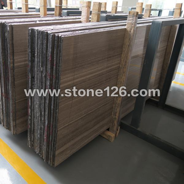 嘉岩石材专业生产咖啡木纹大板