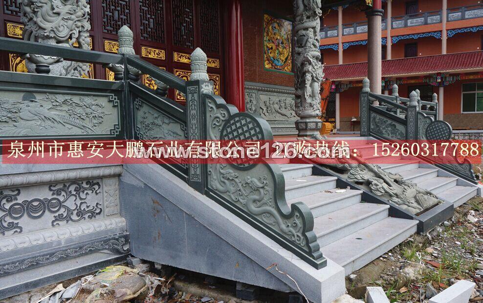 花岗岩石雕栏杆,河道白麻石栏杆,惠安厂家