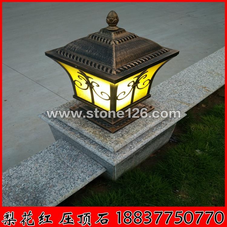 河南梨花红压顶石材用于广场花围石