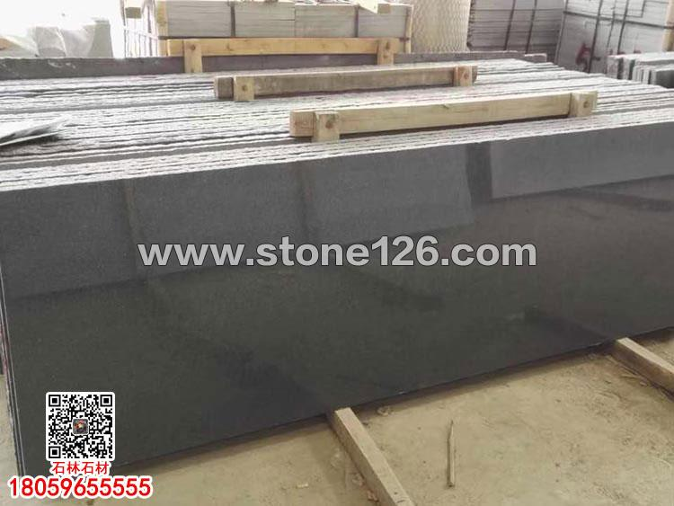 G654光板深灰麻抛光面板材长泰芝麻黑价格